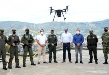 En Itagüí, las autoridades usan drones para reforzar la seguridad en la zona rural - Itagüí Hoy